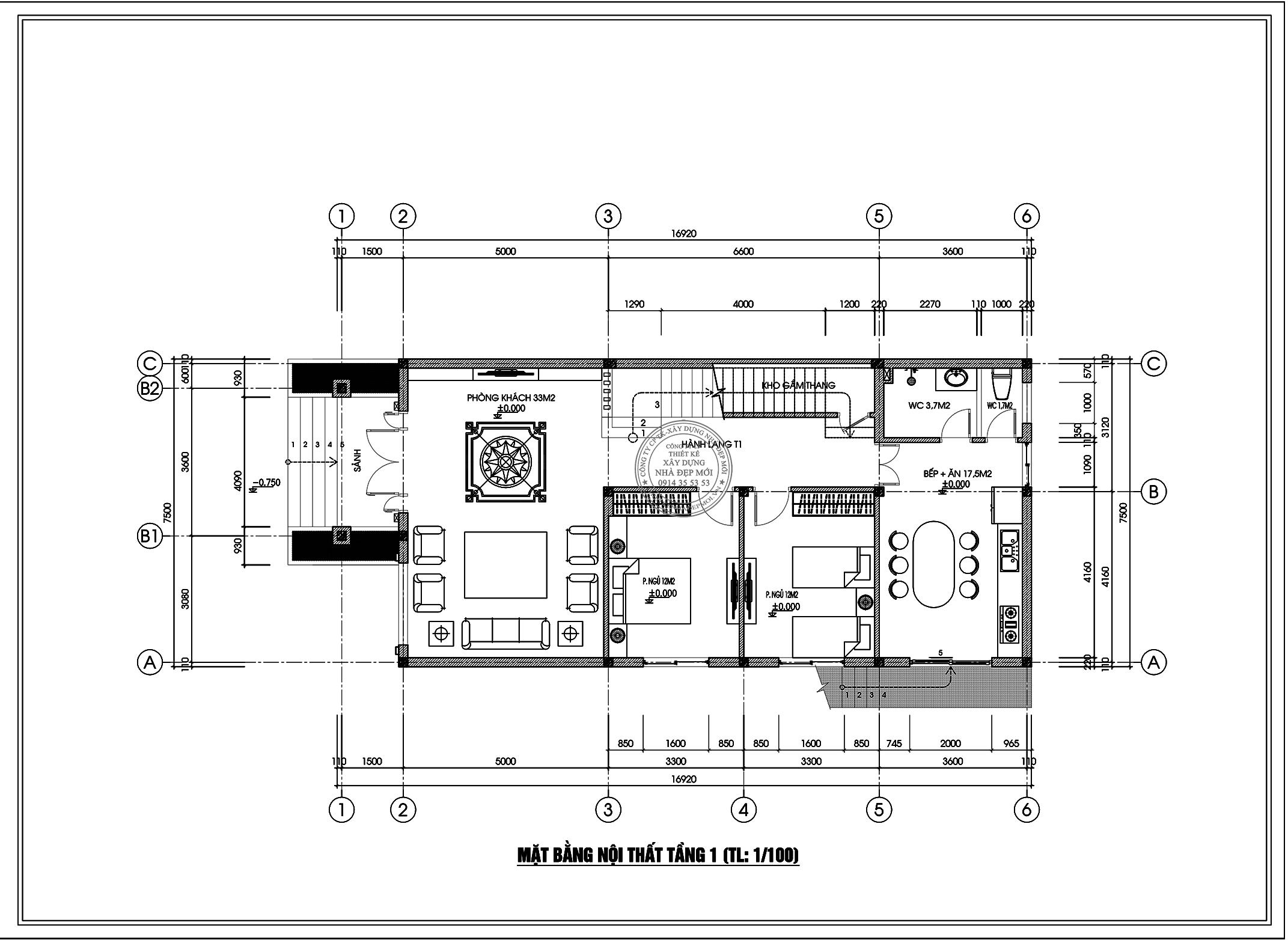 Bảng vẽ tầng 1