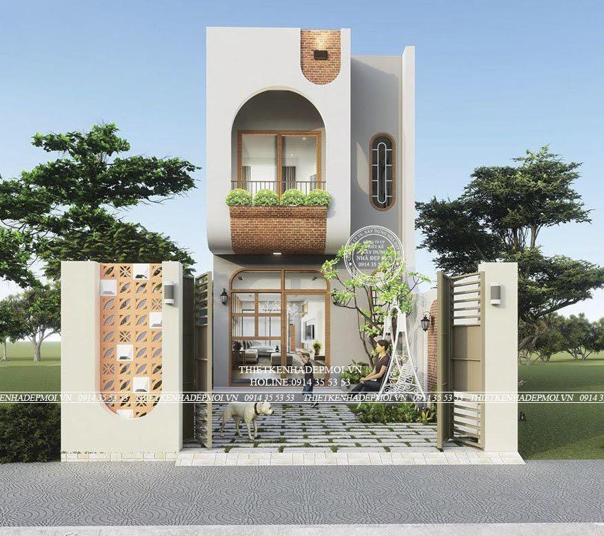 Thiết kế nhà đẹp 2 tầng 95-15)m phong cách chill