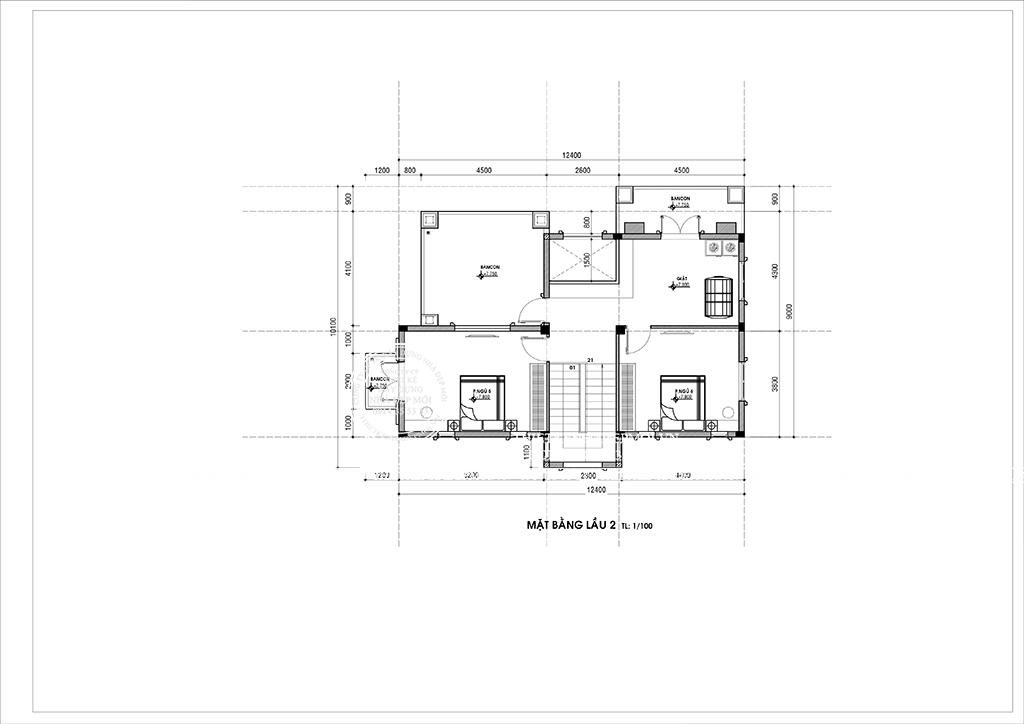 mẫu biệt thự phố 3 tầng