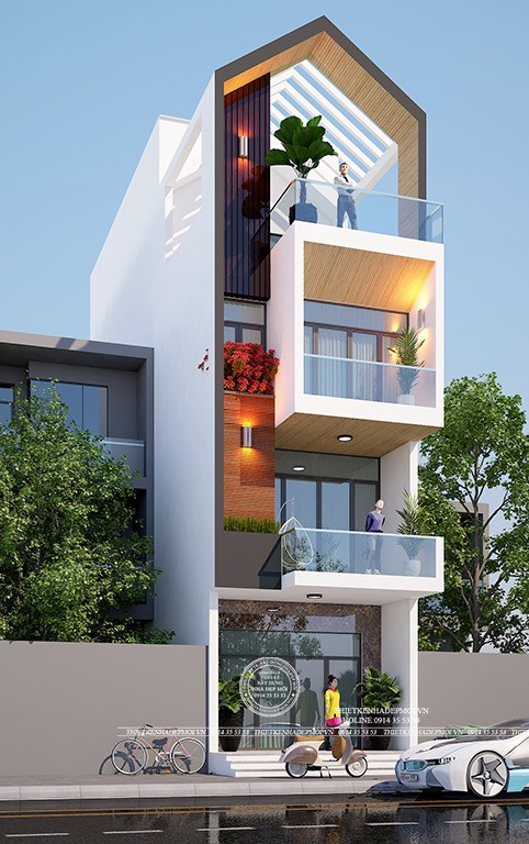 Mẫu nhà phố đẹp của Anh Quang