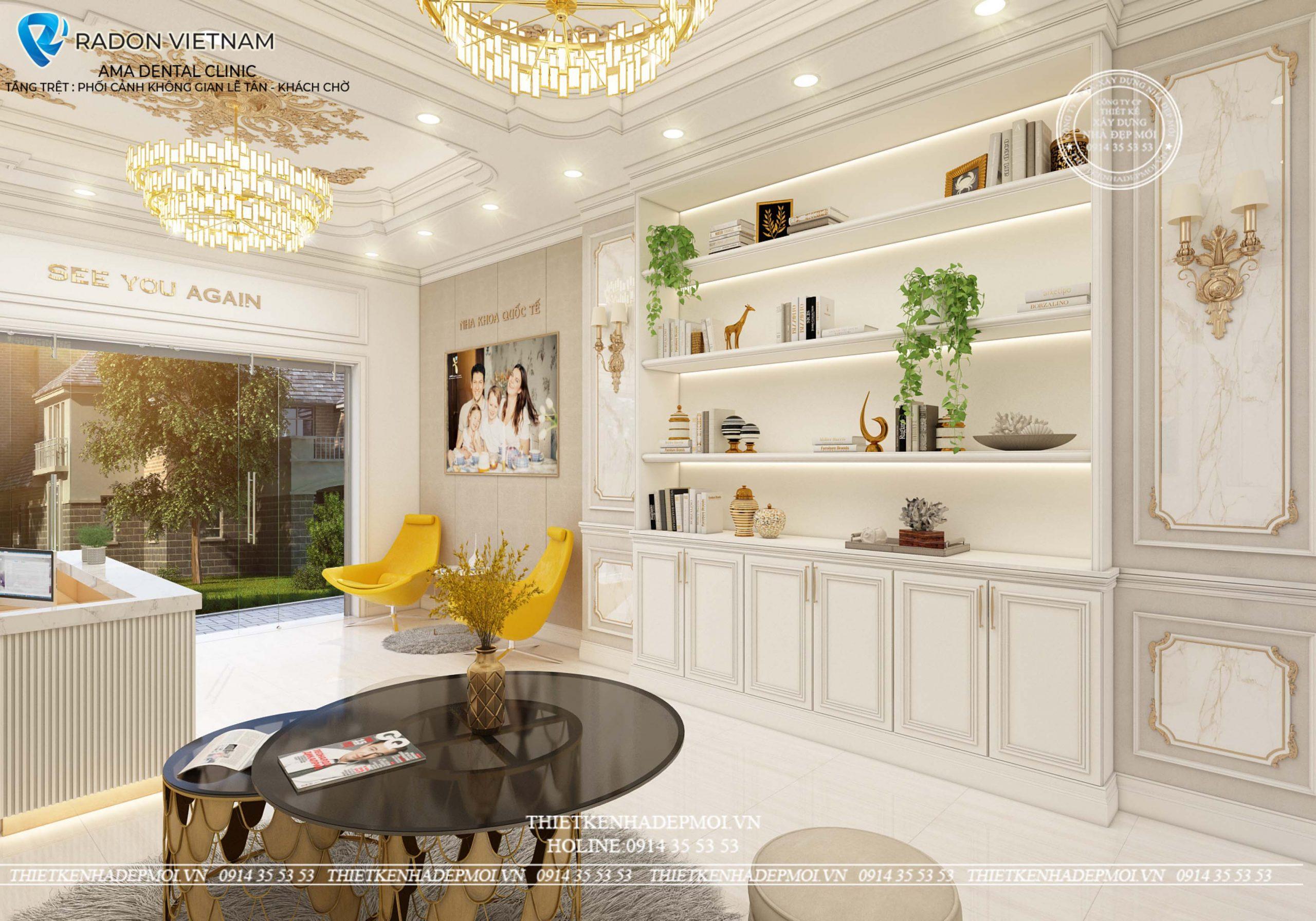 thiết kế nội thất phòng khám