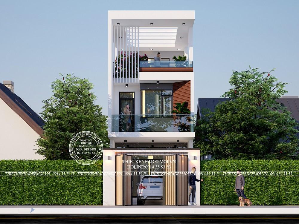 Các mảng xanh tự nhiên tạo cho ngôi nhà sự thông thoáng và mát mẻ